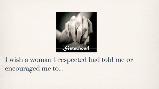 Wish a woman had told me....032