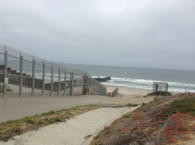 The border wall that separates the US from Tijuana